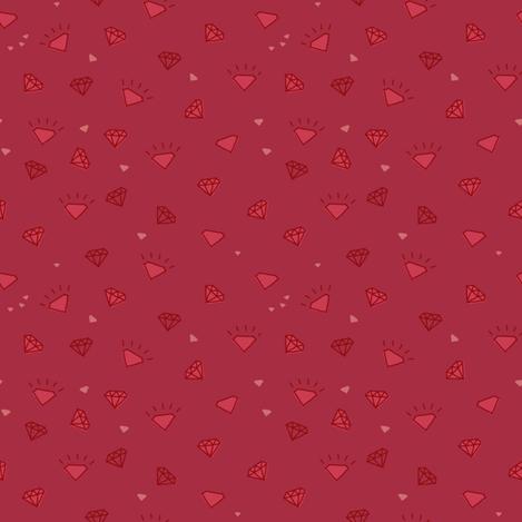 diamonds_dark_red-01 fabric by owls on Spoonflower - custom fabric