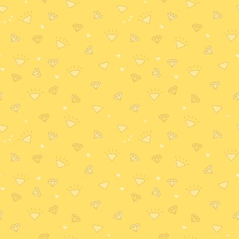 diamonds_yellow-01 fabric by owls on Spoonflower - custom fabric
