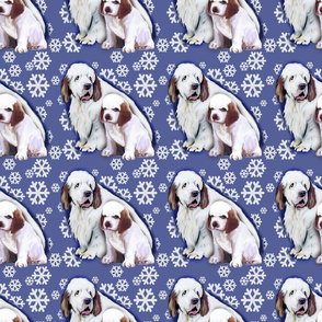 Clumber Spaniel Mom and Puppy