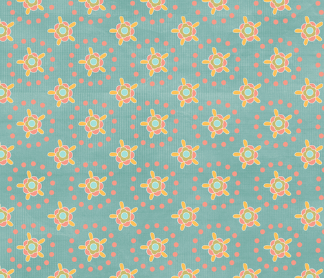 wildworldblueflowers fabric by suziwollman on Spoonflower - custom fabric