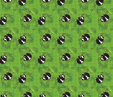 Playful panda fabric by hannafate on Spoonflower - custom fabric