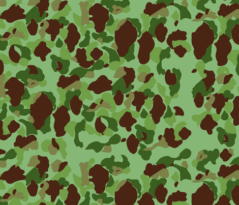 WWII USMC Marine and Army Camouflage at 75% fabric by ricraynor on Spoonflower - custom fabric
