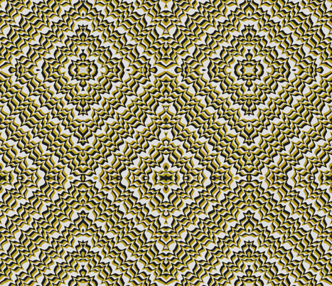 Static lines mustard fabric by whimzwhirled on Spoonflower - custom fabric