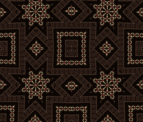 Brown abstract star pattern fabric cleigh designs for Star design fabric