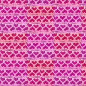 salmon_flamingo_melon_fuchsia_pink_purple_knitted_hearts