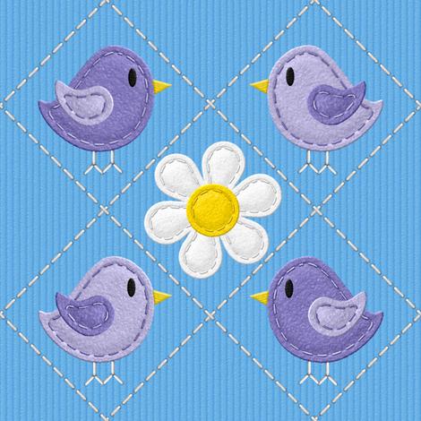 Hello Stitchy Birdy v2.1 fabric by shelleymade on Spoonflower - custom fabric