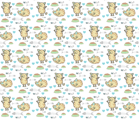 Puss - Boy fabric by cottagecrafts on Spoonflower - custom fabric