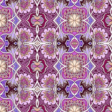 Companion to Paisley Fields Nouveau fabric by edsel2084 on Spoonflower - custom fabric