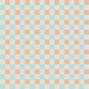 Faux Checkerboard knit
