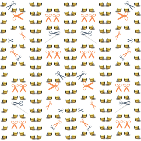 Rumplestiltskin -- Spinning straw into Gold fabric by scifiwritir on Spoonflower - custom fabric