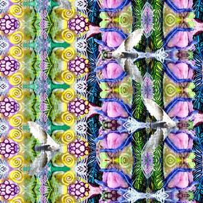 Watercolor, leaves-moths150dpi