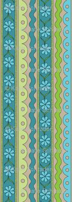 Blue Daisy Chain | Sewing Trim