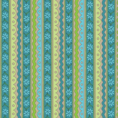Blue Daisy Chain | Sewing Trim fabric by wildnotions on Spoonflower - custom fabric