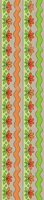 Orange Floral | Sewing Trim