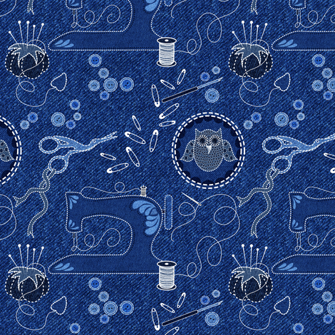 I've a Notion to Sew fabric by vo_aka_virginiao on Spoonflower - custom fabric