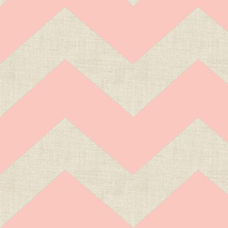 Chevron burlap / peach  fabric by paragonstudios on Spoonflower - custom fabric