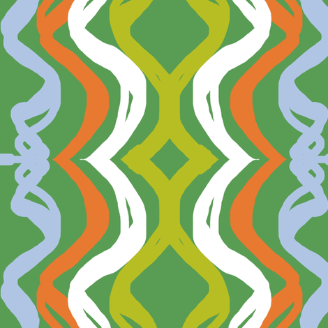 Hometown Waves Green fabric by lesliecassidy on Spoonflower - custom fabric