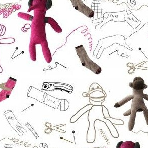 Sewing a Sock Monkey and friends