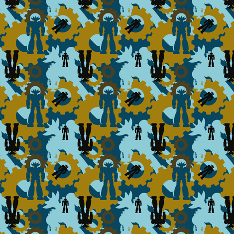 Bots fabric by familypendragon on Spoonflower - custom fabric