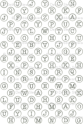 typewriter keys - grey on white