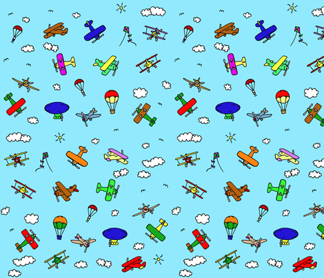 up up and away! fabric by littlemissquarter on Spoonflower - custom fabric