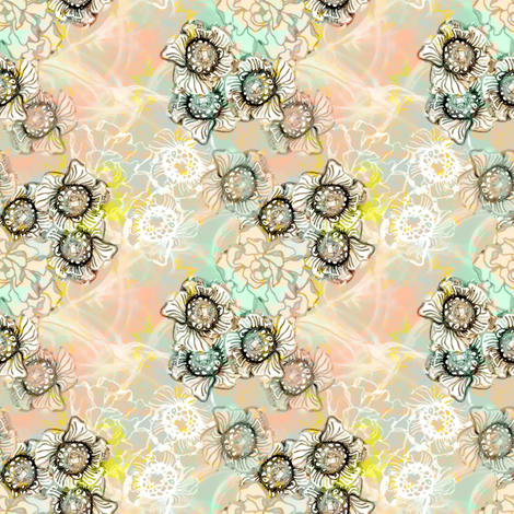 Retro Breeze Floral fabric by joanmclemore on Spoonflower - custom fabric
