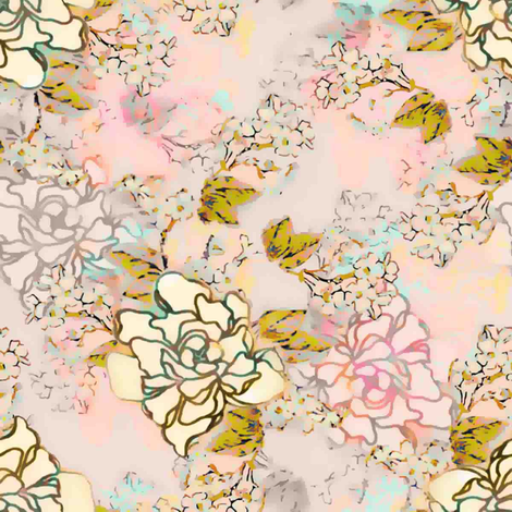 Love's Blush fabric by joanmclemore on Spoonflower - custom fabric