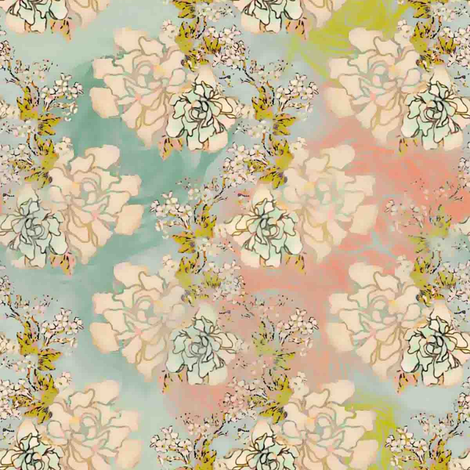 Days Gone By floral fabric by joanmclemore on Spoonflower - custom fabric