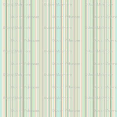 Retro Aqua Stripe