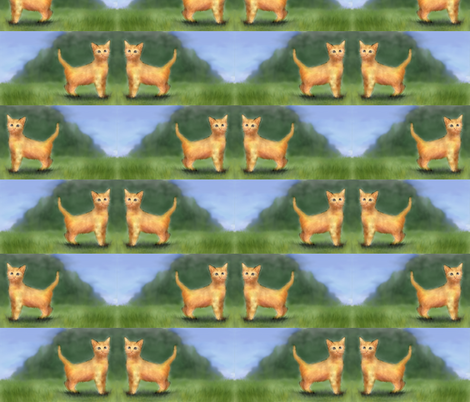 The_orange_kittens fabric by vinkeli on Spoonflower - custom fabric