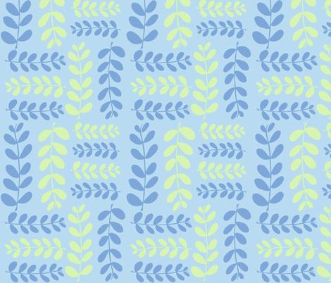 Olive Branches, 2 (aqua, lime & deep sky) fabric by pattyryboltdesigns on Spoonflower - custom fabric