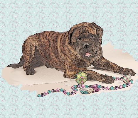 brindle mastiff large size fabric by dogdaze_ on Spoonflower - custom fabric