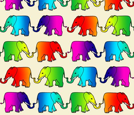 rainbow_elephant_parade fabric by topfrog56 on Spoonflower - custom fabric