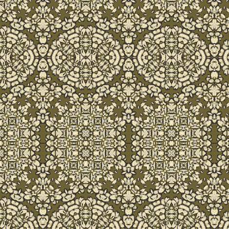 sketchy floral II bronze 224544 fabric by thatswho on Spoonflower - custom fabric
