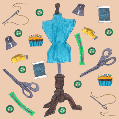 Sewing fabric by brandymiller on Spoonflower - custom fabric