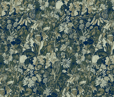 Green Prairie fabric by helenklebesadel on Spoonflower - custom fabric