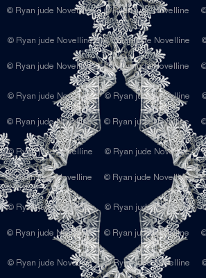 Navy & White Lace Trellice