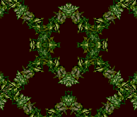 Brown Ivy Trellis fabric by ryan_jude_novelline on Spoonflower - custom fabric