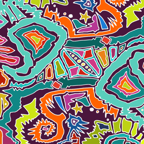 ikat doodle fabric by scrummy on Spoonflower - custom fabric