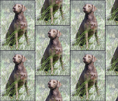 chessie in the grass fabric by dogdaze_ on Spoonflower - custom fabric