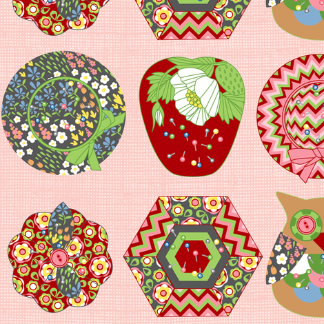 Pincushions fabric by cjldesigns on Spoonflower - custom fabric