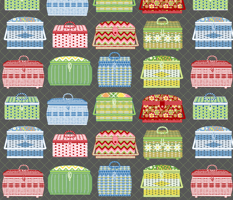 sewing baskets fabric by cjldesigns on Spoonflower - custom fabric