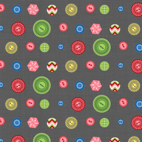 Buttons fabric by cjldesigns on Spoonflower - custom fabric