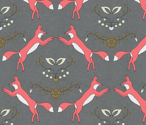 foxen_coral fabric by holli_zollinger on Spoonflower - custom fabric