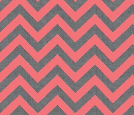 chevrons_coral fabric by holli_zollinger on Spoonflower - custom fabric