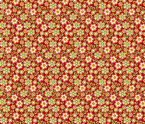 Pincushion floral fabric by cjldesigns on Spoonflower - custom fabric