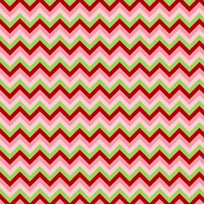 Pink Red Green Chevron