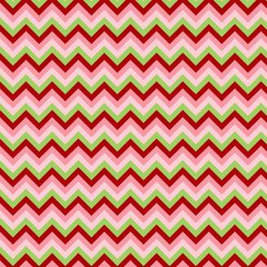 Pink Red Green Chevron