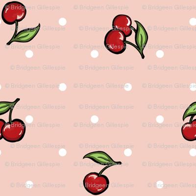 Vintage cherry pink
