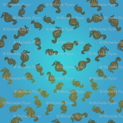 Seahorse Blue Seas